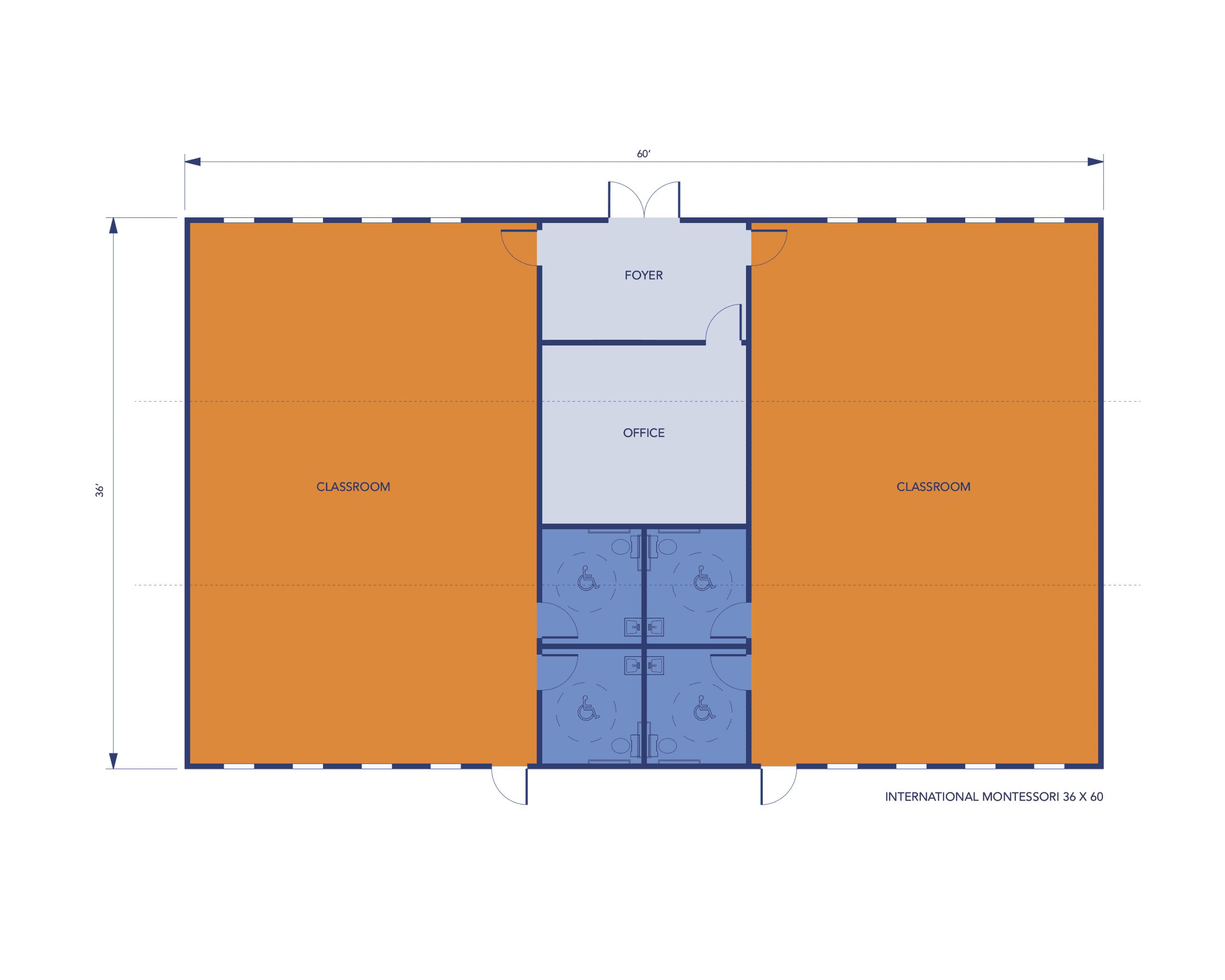 Multi-Classroom Modular Classroom Layout