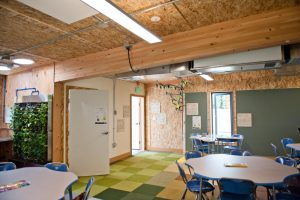 Portable Classroom Inside Green Energy Positive Building