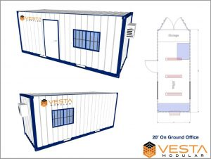 20 Foot Shipping Container Office