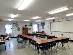 Example of Single Modular Classroom Interior