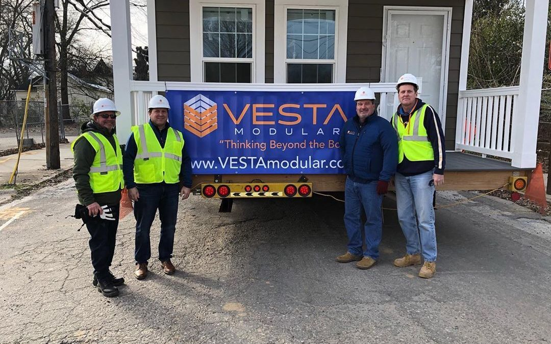 VESTA Team celebrating work on a Modular Housing Project in Atlanta