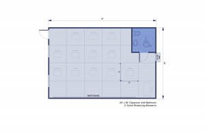 Social Distance Safe Floor plan for Classrooms