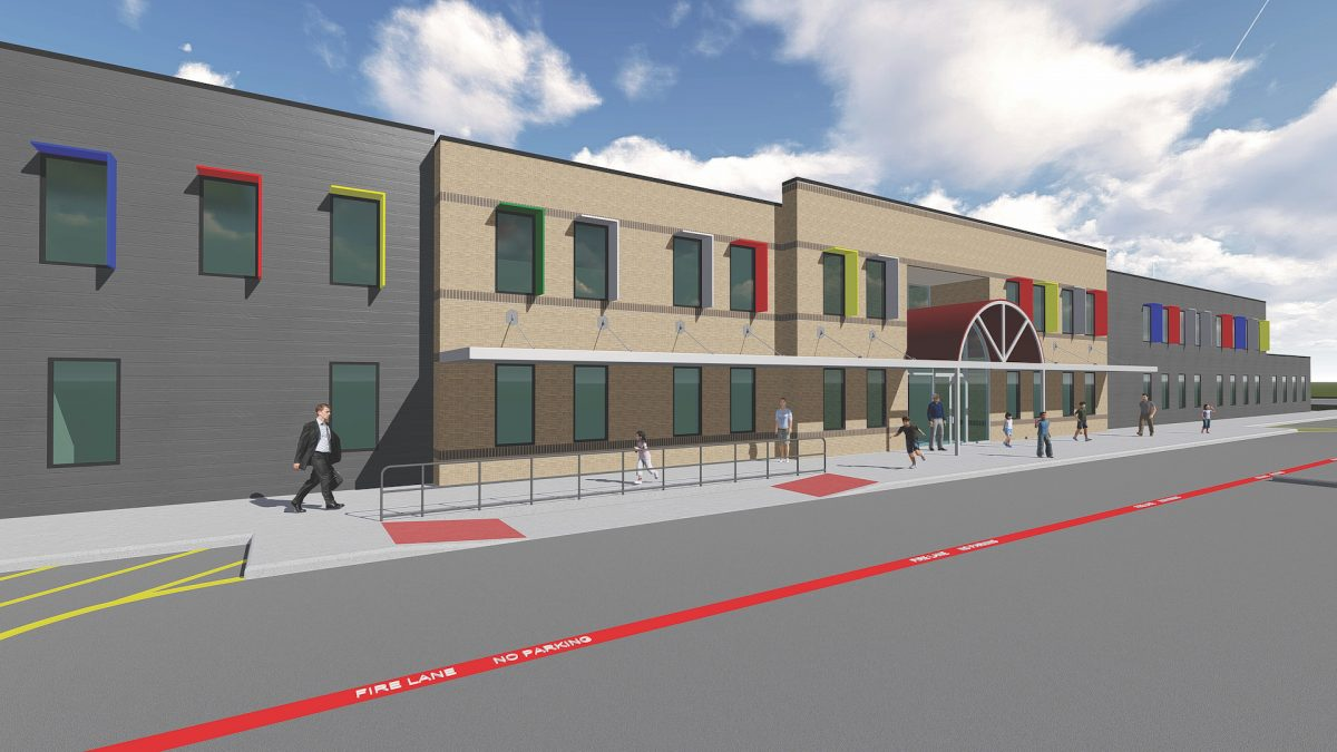 3D Rendering of Modular Classroom and School Building Design