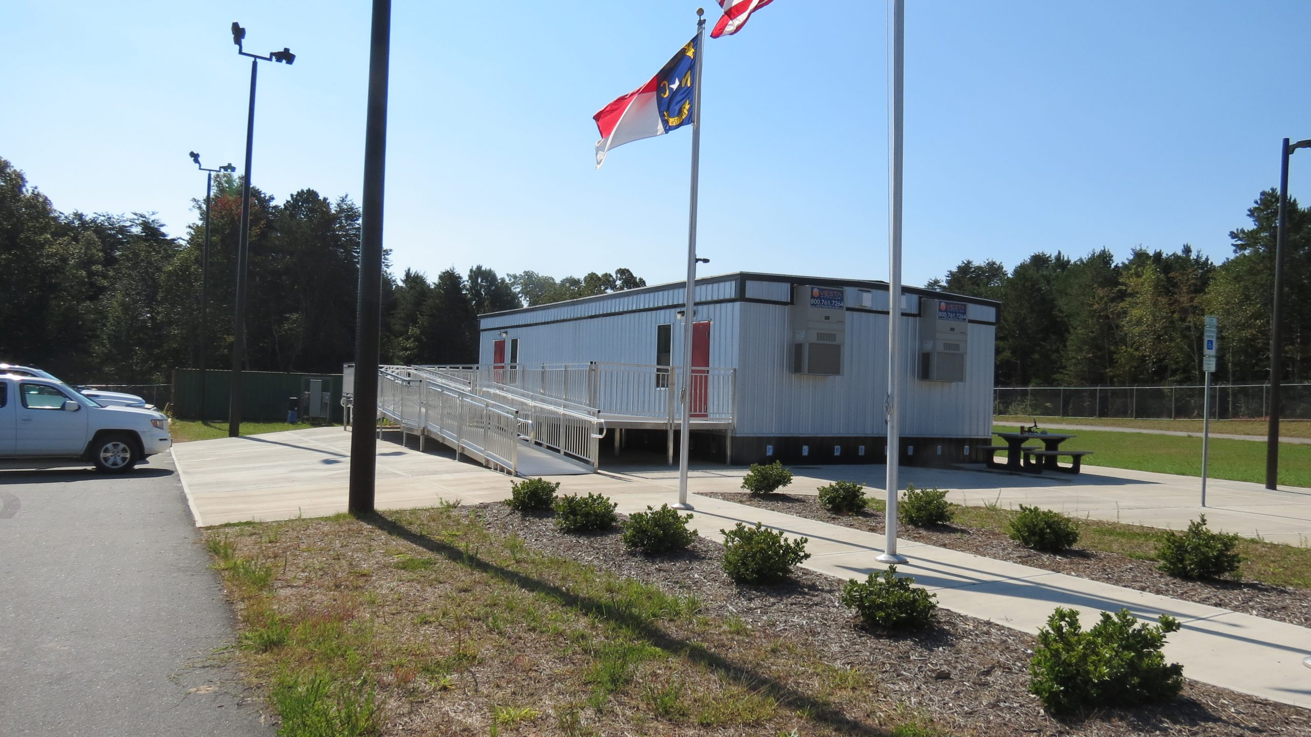 Modular classroom exterior of photo contest winner
