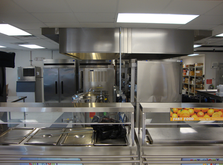36' x 120' modular cafeteria building and types of commercial buildings for food services
