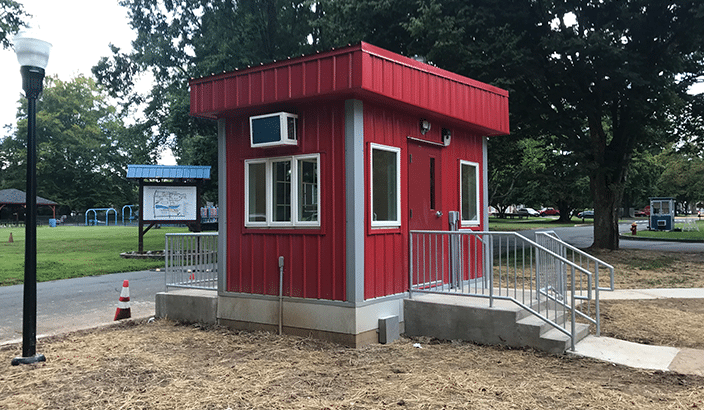 Marie H. Katzenbach School for the Deaf custom guard shack