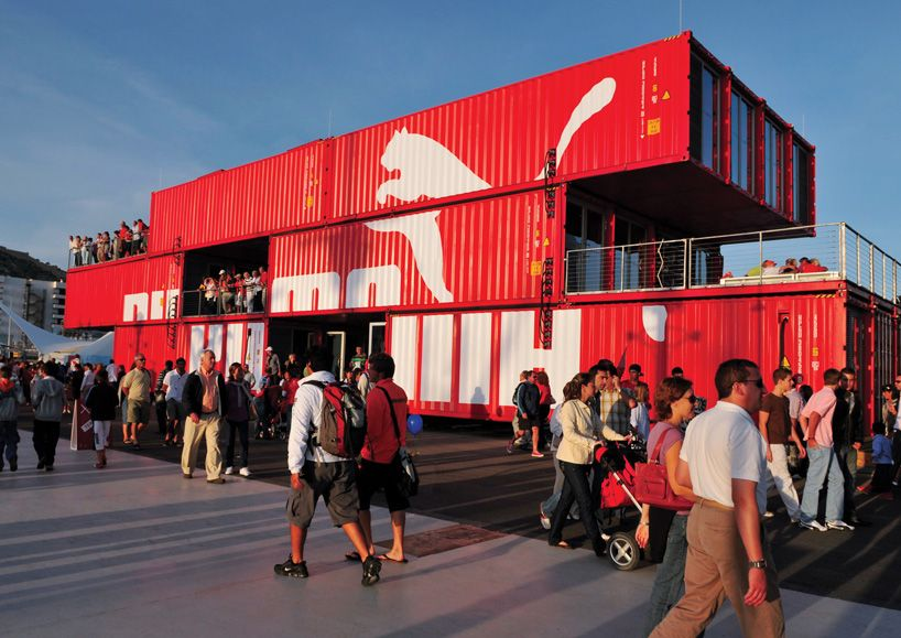 shipping container retail space