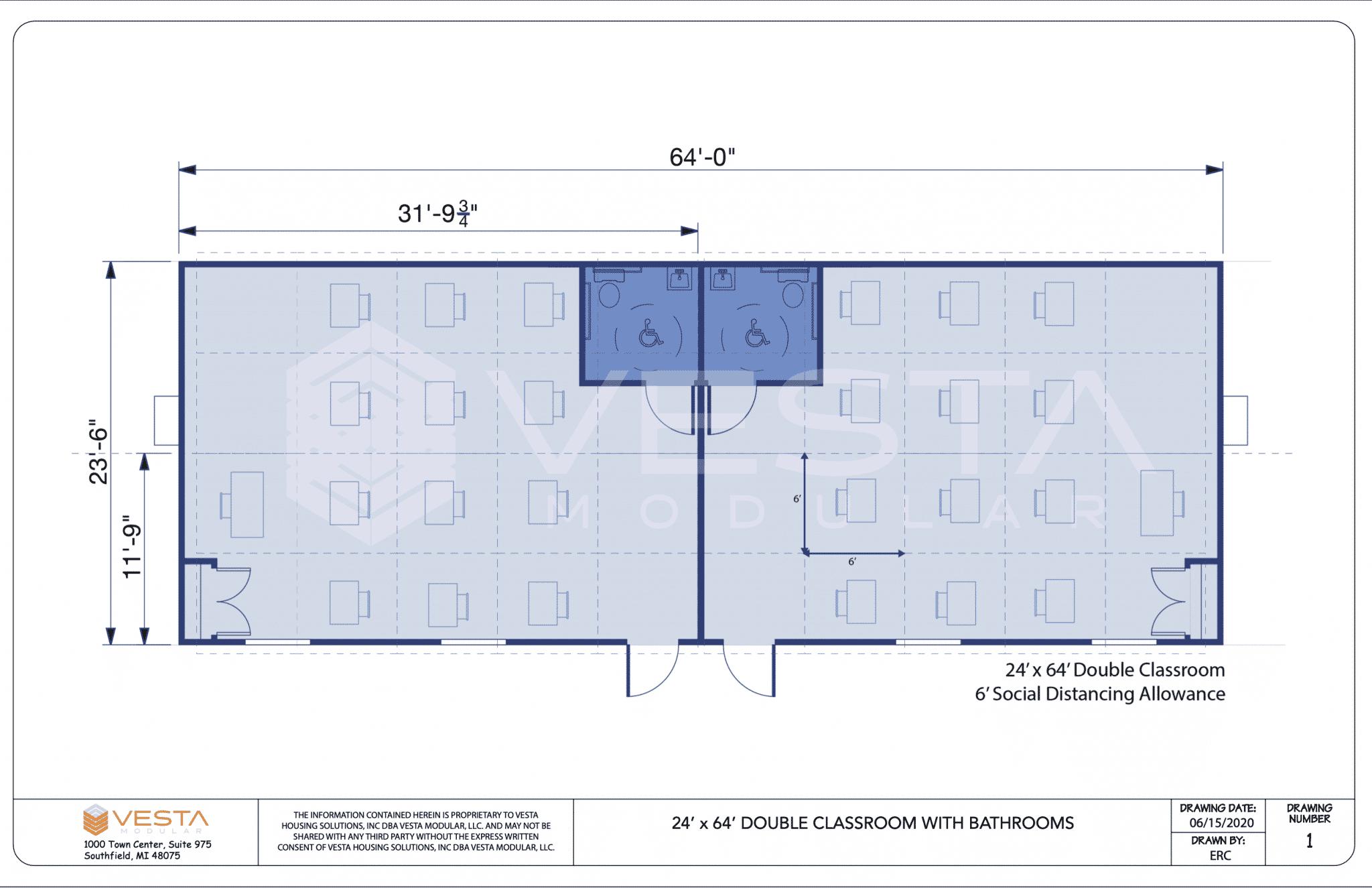 social distancing classroom floor plan