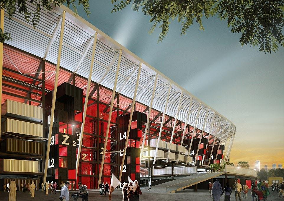 Qatar world cup stadium, modular construction project