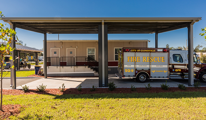 government modular building, modular fire station